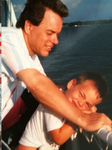 My Dad and I in Florida, circa 1990.