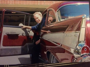 My dad and his 1957 Chevy, circa 2010
