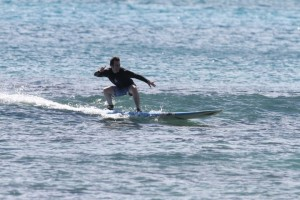Me, surfing at Waikiki Beach, September 2010